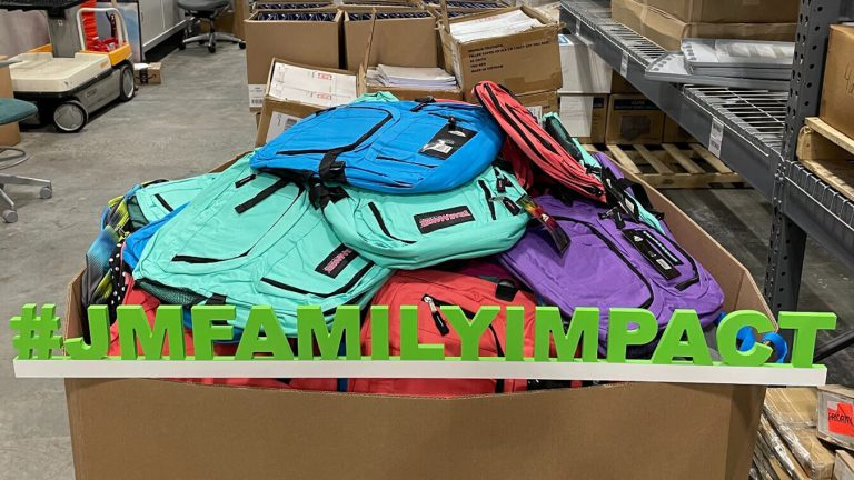 JM Family and its subsidiaries helped to bridge the gap for families by hosting back-to-school community efforts at business locations throughout the country