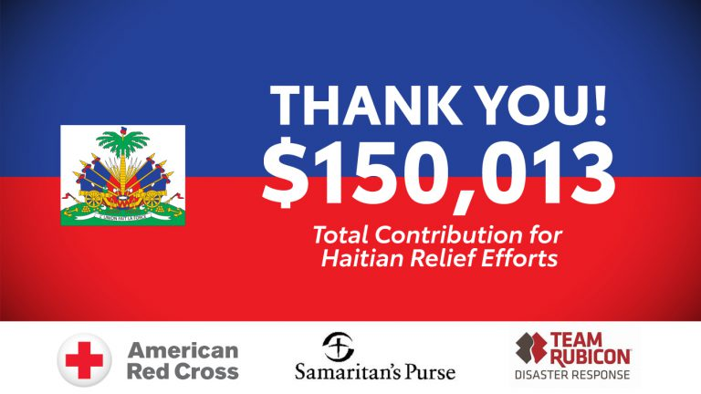 JM Family makes a donation to support Haitian recovery efforts